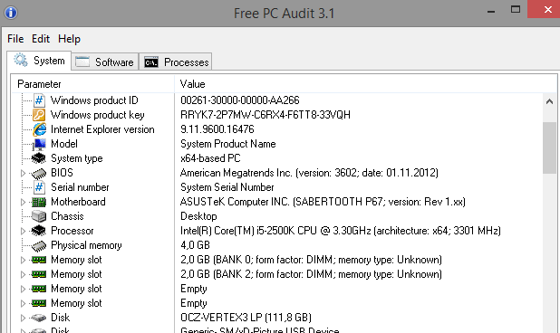 Free PC Audit