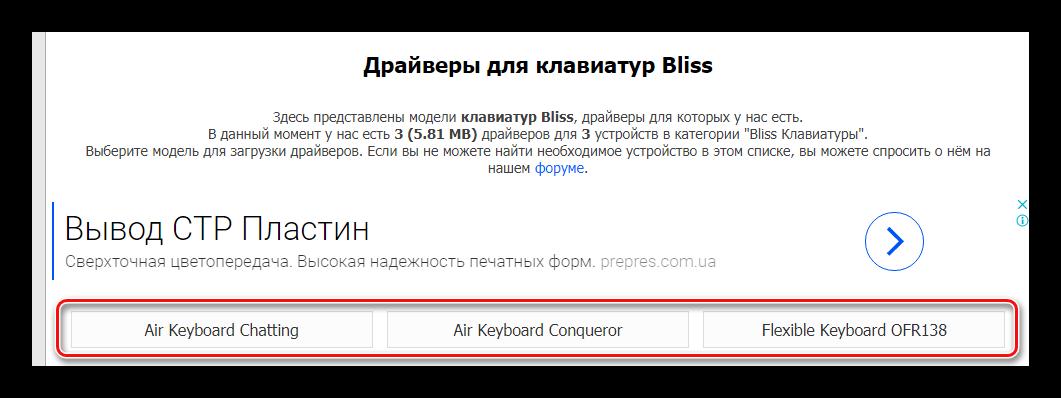модель клавиатуры driver.ru