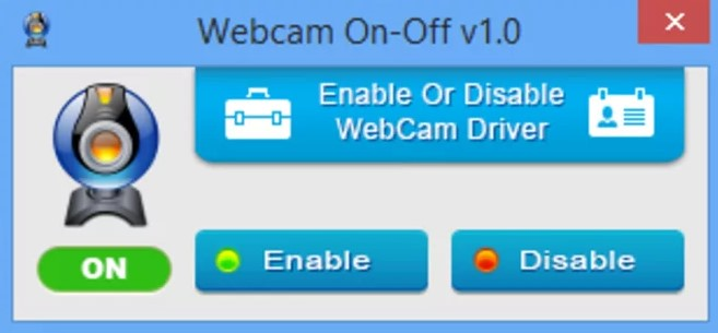 WebCam On-Off скрин